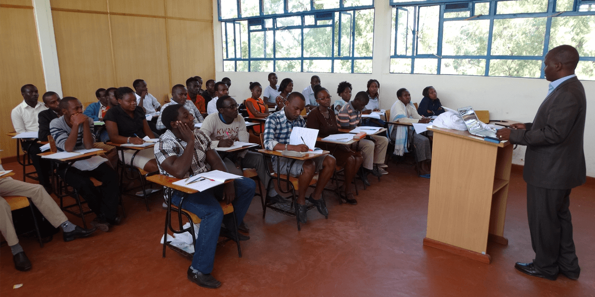 Embu University College classroom