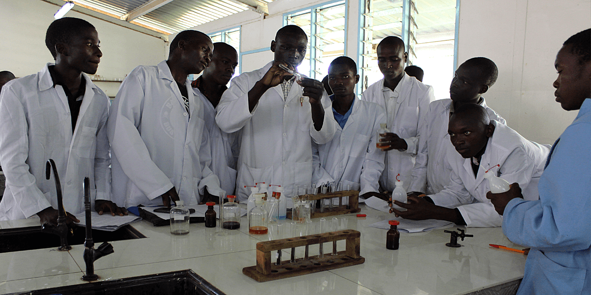 Students work on a practical at Machakos University College