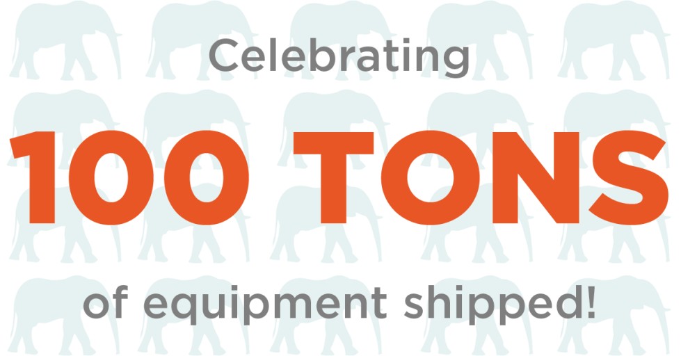 100 Tons of Equipment Shipped