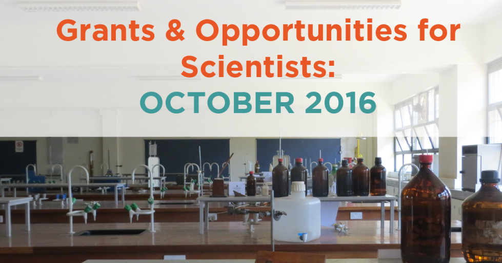 October 2016 Grants & Opportunities