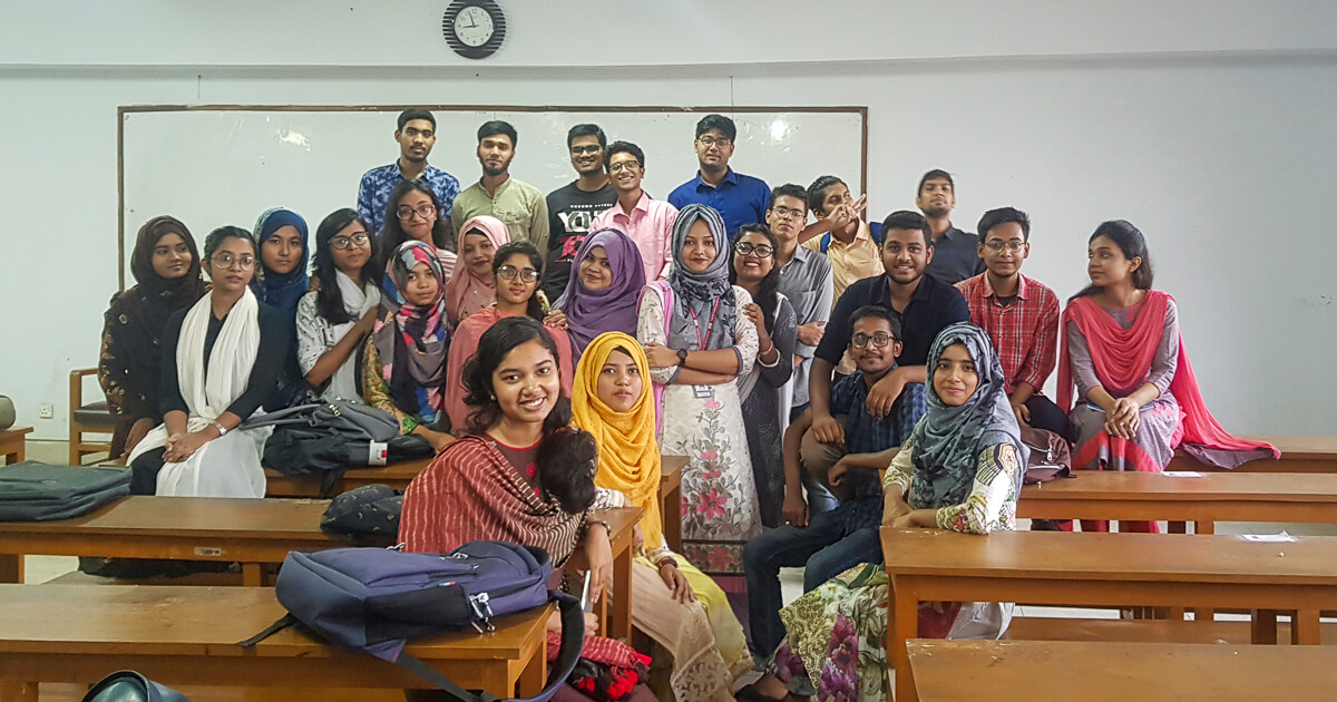 Students in the Classroom of GEB department of Jagannath University