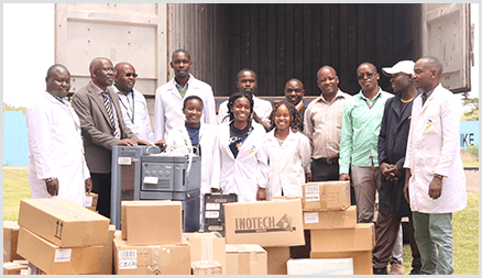 Instrumental Access equipment arriving at USIU-A in Kenya